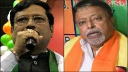 Bjp Leader Mukul Roy Met Tmc S Sabyasachi Dutta S House At Saltlake