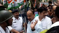 Tmc Cadres Along With Sabyasachi Dutta Vandalises Govt Office