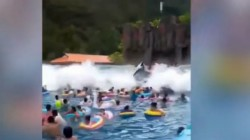 Bizarre News Tsunami In China Water Park Leaves Many People Injured