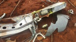 An External Fuel Tank From A Tejas Aircraft Dropped On A Field Coimbatore