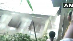 A School Of Assam Is Collapsed Into Brahmaputra River Due To Flood