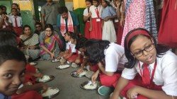 Only Boiled Rice And Salt Is The Food For Mid Day Meal For West Bengal School
