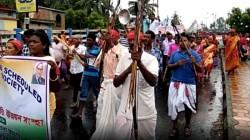 Adivasi Rally In Basirhat Police Arranged Heavy Security