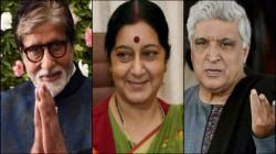 Sushma Swaraj Death Amitabh Bachchan To Lata Mangeshkar Mourns