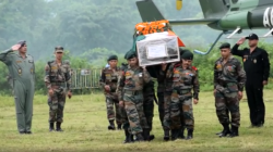 Iaf Helicopter Offer Last Salute To Martyred Rajib Thapa
