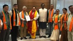 Mlas Of Sikkim Democratic Front Join Bjp In Delhi
