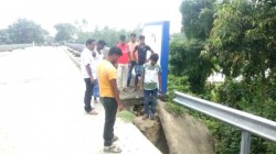 Huge Crack In Bridge In South Dinajpur