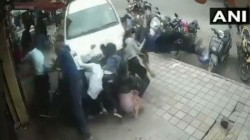 A Drunk Person Drove His Car Over Pedestrians On A Footpath In Bengaluru