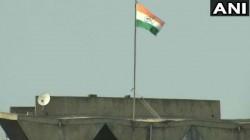 Article 370 J K Flag Removed Triocolour Seen In Civil Secretariat Building