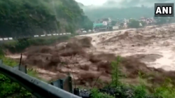 Flash Flood Rushed And Floats Roads And House Due To Cloud Blast Rain