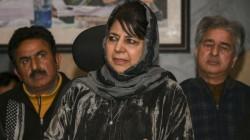 Mehbooba Mufti Oppose Kashmir Decision