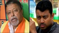Cut Money Poster Against Bjp Leader Mukul Roy And Subhranshu Roy At Kanchrapara
