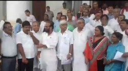 Left Front And Congress Mlas Walk Out From Assembly Protest Of Teacher Hackle