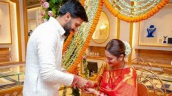 Nusrat Jahan Enjoys Her Sindhra Dooj With Husband Nikhil See Photo Album