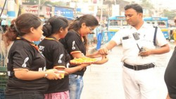 Raksha Bandhan Celebrates At Different Police Stations In South Kolkata By College Students