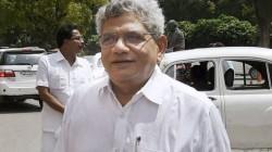 Sitaram Yechury D Raja Detained At Srinagar Airport