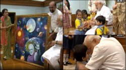 Modi Celebrates Raksha Bandhan With Little Ones And His Rakshi Sister