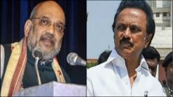 Mk Stalin Criticising Amit Shah S Push For Hindi Language