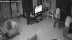 Cctv Footage Shows Justice Retired Nrm Rao Allegedly Harassing And Assaulting His Daughter In Law