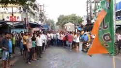 Bjp Observes Bandh In Barrackpur Parliamentary Constituency Area