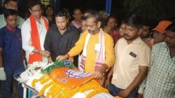 Nanur Bjp Cadre S Last Rites Performed In Katwa