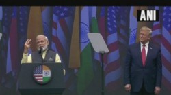 Narendra Modi And Donald Trump Are In The Same Stage In Houston Inhowdi Modi