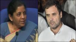 Rahul Gandhi Take A Dig On Nirmala Sitaraman
