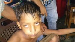 A Boy Injured During Muharram Firing