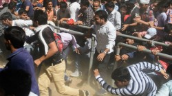 A Large Group Of Students Of Banaras Hindu University Have Been Sitting In Protest
