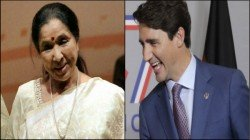 Asha Bhonsle Recives Gift From Canadian Prime Minister Trudeau