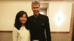 Wife Ankita Calls Milind Soman As Papaji