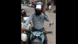 Vadodra Man Carries All His Vehicle Related Documents On The Helmet