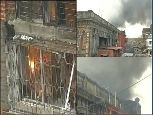 A Devastating Fire Multi Storied Building Barobazar