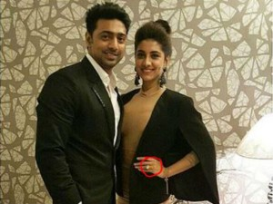 Dev Has Gifted His Ladylove Rukmini Maitra Massive Diamond Rock Do You Know The Price