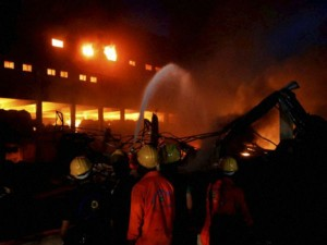 Fire Breaks Out At Bulding Barabazar