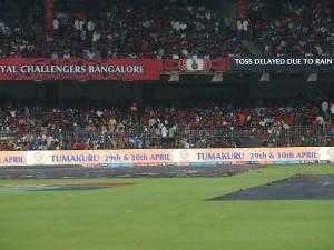 Due To Rain Bangalore Vs Hyderabad Match Has Abandoned