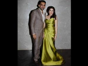 Zaheer Khan Sagarika Ghatge S Engagement Party Pics