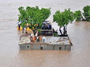 Rescue Operations Continue Gujrat Flood