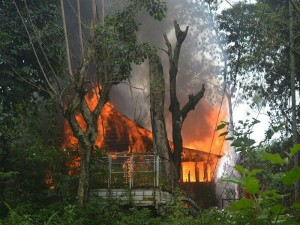 Gjm Party Office Is Burnt Fire Violence After Explosion Darjeeling