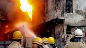 A Massive Fire Broke Out At A Multi Storeyed Building At Pollock Street In Central Kolkata