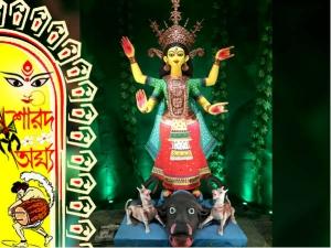কংক্রিটের জঙ্গলে তাজা ঘাসের ছোঁয়া পেতে চান, ঘুরে আসুন টালা দক্ষিণপল্লির পুজো মণ্ডপে