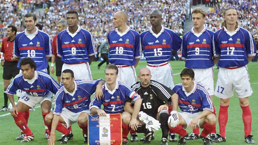 The French national team in 1998