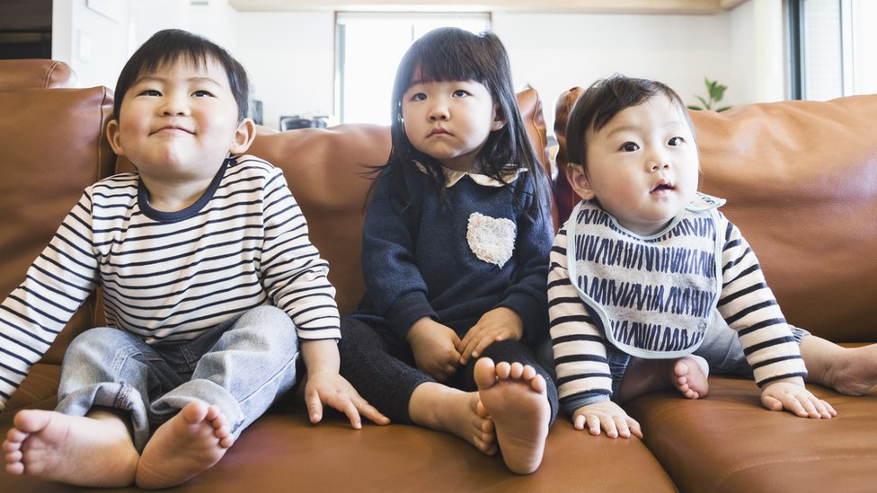 A group of Japanese children